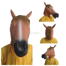 Deluxe Novelty Halloween Costume Party Cosplay Latex Animal Horse Head Mask