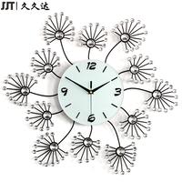 Promotional Home Decor Unique Handmade Metal Diamond Wall Clock Designs