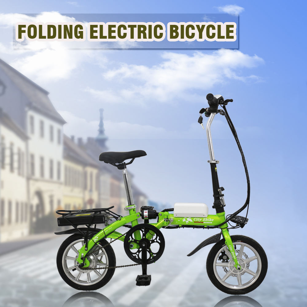 14 inch alloy frame 36v 250w motor mini folding electric bike
