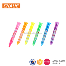 2018 Custom Promotional Gift Novelty Clip Colorful Shell Mini Highlighting pens