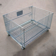 Customized evergreat foldable mesh pallet metal storage cage