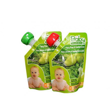 Plastic Flexible packaging fruit juice pouch with spout