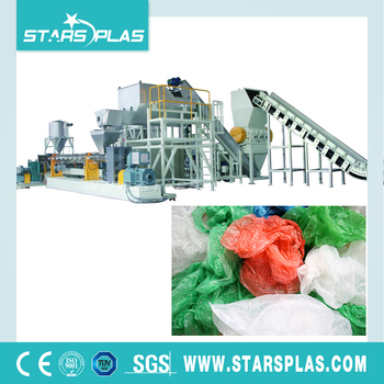MPE-1000 PE plastic film cleaning pulverizer recycling line