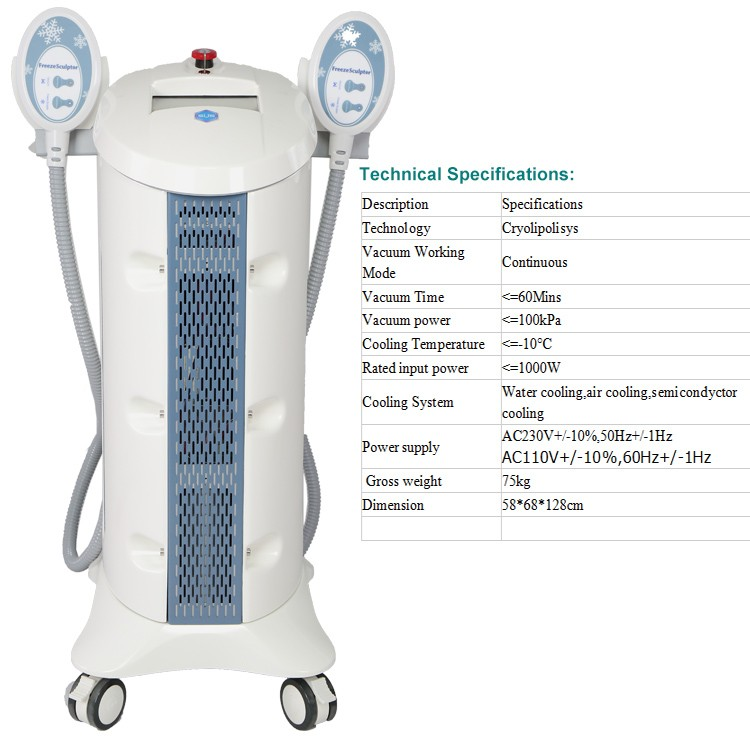 2017 SUSLASER professional freeze sculptor fat freezing cool slimming machine with two cryo heads