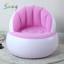 PVC and flock inflatable sofa cushion, inflatable chairfor kids cheap price