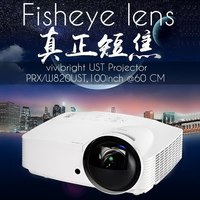 vivibright PRX820UST short throw portable projector in stocks now,Fisheye lens,4K chip for 3d mapping,45000lms home theater