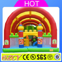 Children inflatable playground Obstacles game Outdoor inflatable obstacle course for kids