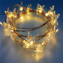 Holiday party reindeer high quality solar led string lighting 220v hanging star christmas fairy light