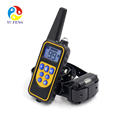 Hot Selling Waterproof Rechargeable LCD Adjustable Electric Vibra Vibration Bark Control Remote Pet Dog Shock Training Collars