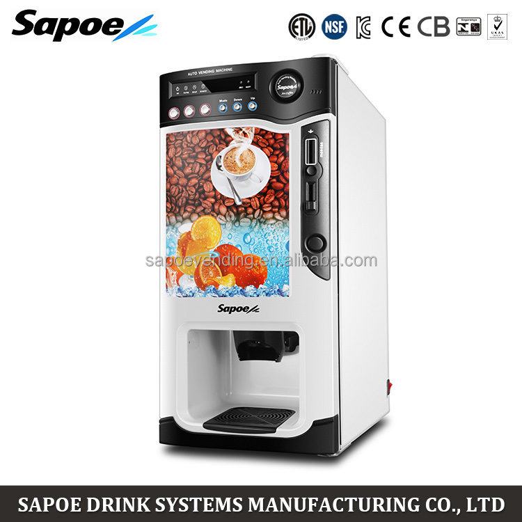 Automatic vending machines coin operated ice coffee machine