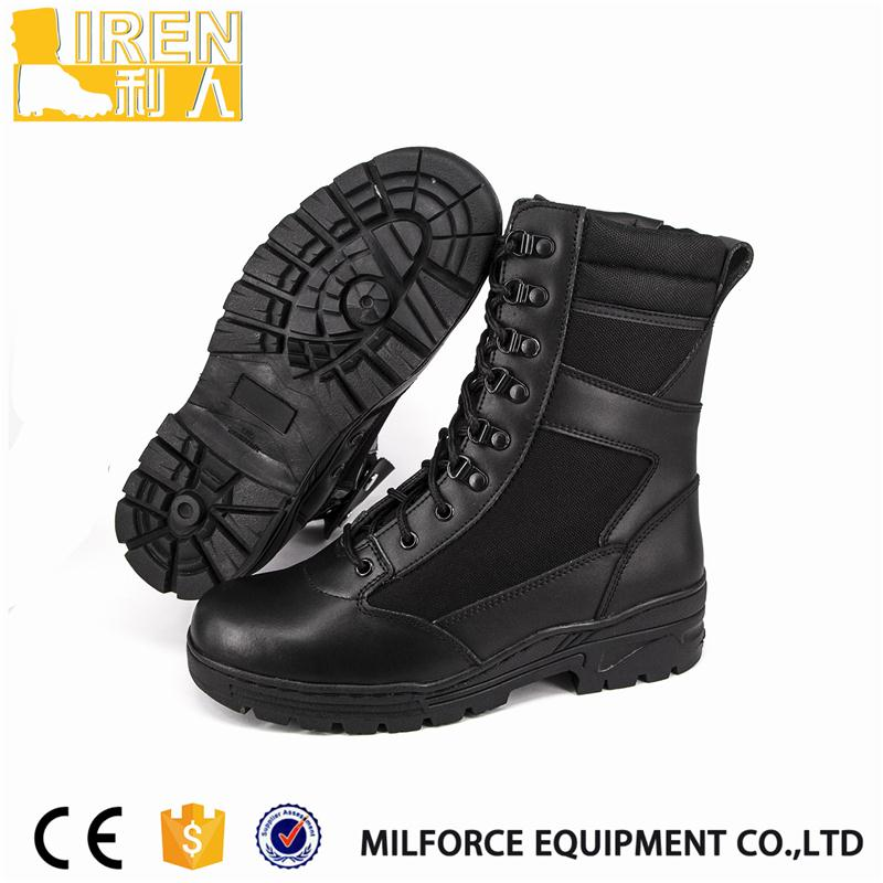 Hot selling miltiary cow leather boot with high quality
