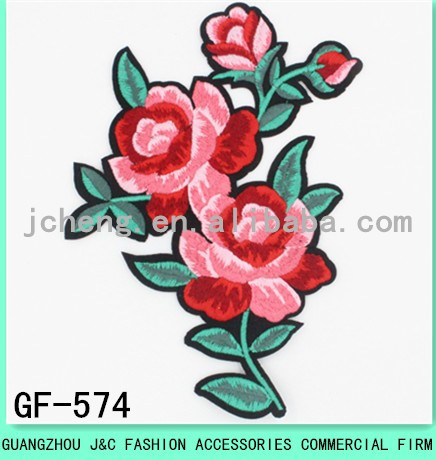 2017 latest lipstick pattern embroidery patch