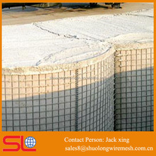 spring galvanized MIL1 welded mesh military protecting hesco barriers
