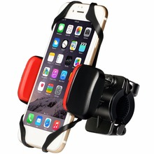 2017 Metal Bike Phone Mount Bicycle Motorcycle Universal Holder Cradle 360 Degrees Rotatable Rubber Strap