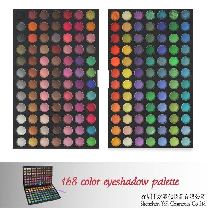 168 eyeshadow palette high quality 4colors wet eyeshadow