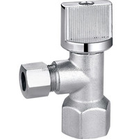 Brass angle valve slow open type with chrome plated