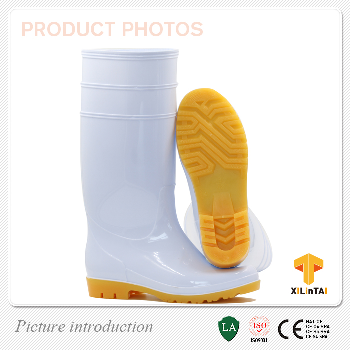 White PVC Food Working Boots