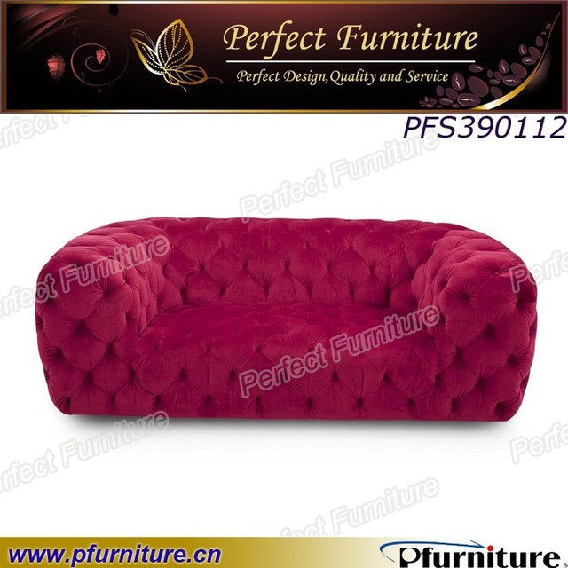 Pull buckle design upholstered chesterfield sofa PFS309112