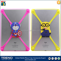 Big size 3d cartoon silicone bumper case for ipad air, universal silicone phone case