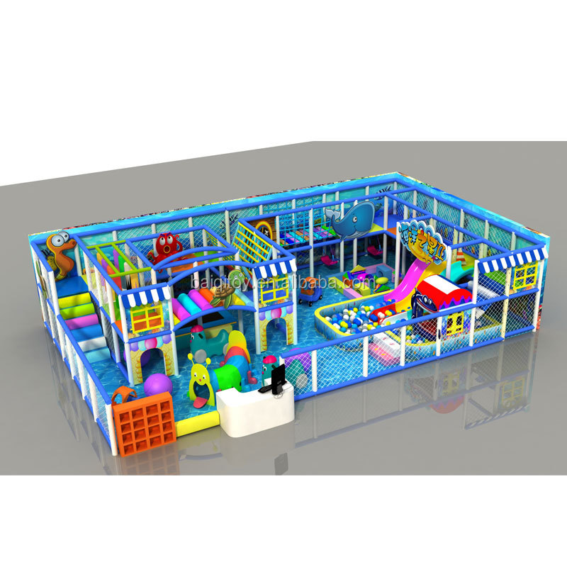 Kids Playground Naughty Castle Indoor Play Structure Newest round animal fish boxing small home kids indoor naughty castle playg