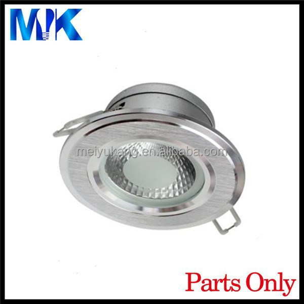 hot sale cob 12w white color shell die cast process downlighting led housing aluminium led downlight housing with glass cover