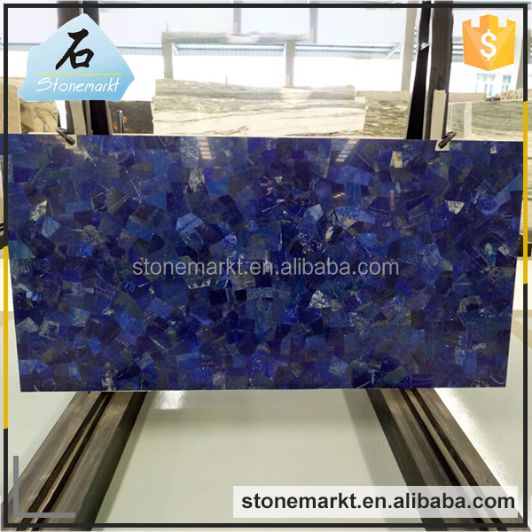 Natural stone large polished gemstone lapis lazuli slab for kitchen top