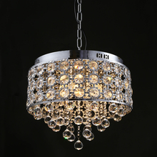 New Disgin Gold Sliver Crystal Chandelier with Four Lights