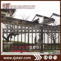 strong aluminum alloy grey color security fence for garden outdoor