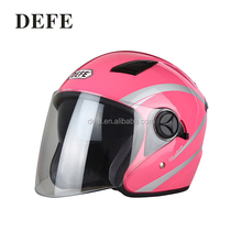 Durable safety motorcycles helmet pink half face helmets for motorcycles