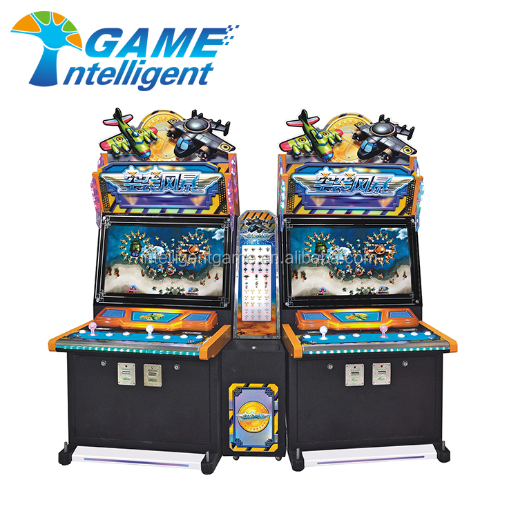 Upright 4 players Air Strike shooting fish games machine