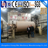 Guangmao HOT SALE 2400mm bagasse kraft/corrugated/fluting /paper plate making machine,bamboo plate for sale