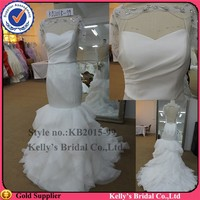 global newest design real sample dress Lotus skirt cheap wedding dresses made in china