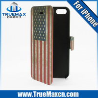 for iphone 5 leather case, wallet case for iphone 5, for iphone 5 flip cover