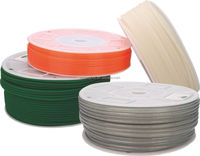 Green Orange Transparent PU round belt Polyurethane drive belt smooth and rough surface
