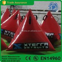 Custom Made High Quality Inflatable Triangle Buoy With Logo Priniting
