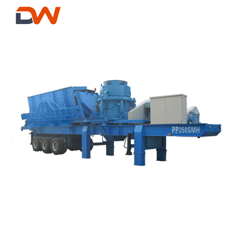 Mini Mobile Portable Used Concrete Stone Rock Cone Jaw Crusher Crushing Plant Price For Sale