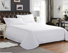 200TC plain white hotel /hospital bed sheets 50% polyester 50% cotton