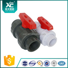 plastic injection PVC double union ball valve(socket & thread)