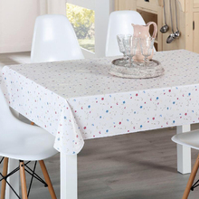 2018 PVC tablecloth with flannel backing roll