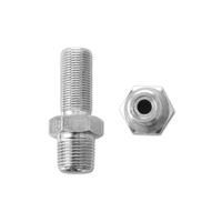 Swagelok type Parker type stainless steel 1/4 3/8 1/2 NPT BSPT hex nipple double nipple adapter connector pipe fitting