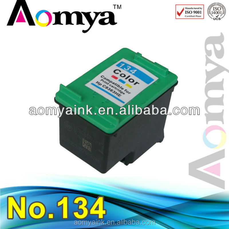 Aomya Compatible printer ink cartridge for hp 134 with high quality