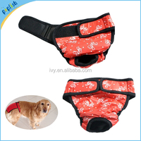China Supplier Sanitary Physiological Pants for Dogs Underwear S to XXL Breeds Washable Diaper Magic Closed Pet Clothes Dog