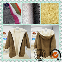 for overcoat made in suzhou with soft handle 100% polyester fleece fabric
