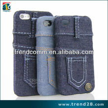 jeans case for iphone 5 with your own logo