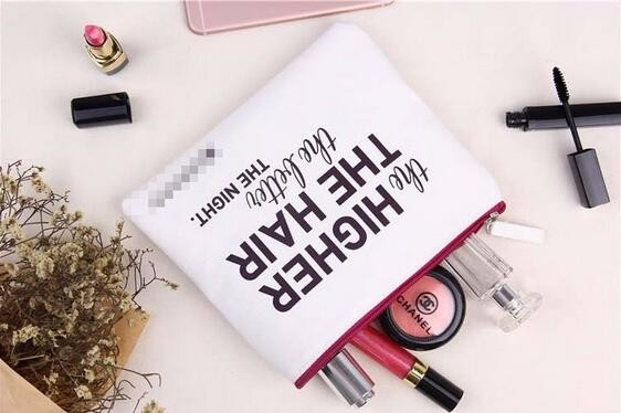 2016 New arrive hot sales zipper make up cosmetic cotton canvas pouch bag