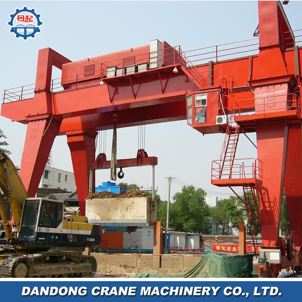 metal industries conventional style double beam Model A gantry ship crane for sale