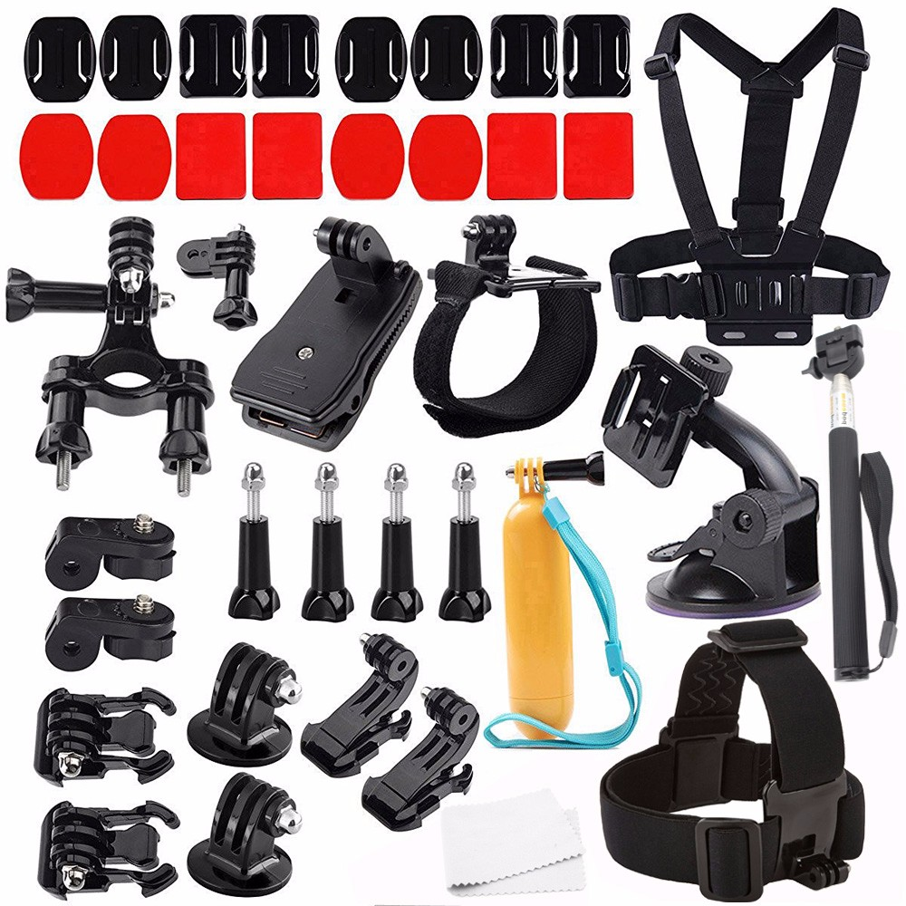 GoPros Accessories Set Floating Handle Grip Chest Belt Head Mount Strap Monopod For GoPros Heros 2 3 3+ 4 SJ4000 xiaomi yi