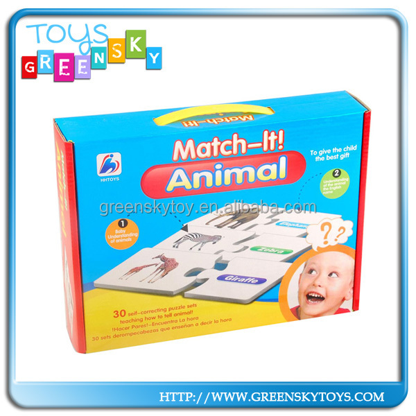 kids educational learning toys match it animal