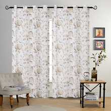 MANUFACTURER SHEER PRINTING CURTAIN FOR HOME WINDOW