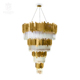 High quality modern american style 40 light brass crystal large art deco chandelier and pendant lights